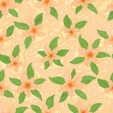 Orange flower pastel color seamless pattern Royalty Free Stock Photography