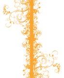 Orange flower pattern Royalty Free Stock Photo