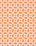 Orange flower seamless pattern Royalty Free Stock Image