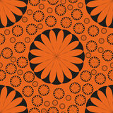 Orange Flower Seamless Pattern Autumn Stock Image