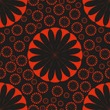 Orange Flower Seamless Pattern Bright Stock Photos