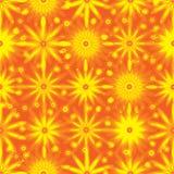Orange flower seamless pattern Stock Photography