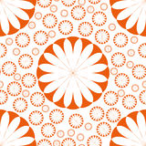 Orange Flower Seamless Pattern Royalty Free Stock Photo