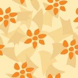 Orange Flower Tile. Seamless tile  texture pattern, orange flower wallpaper Royalty Free Stock Photos