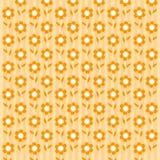 Orange flower wallpaper. Abstact spring background flower pattern Vector Illustration