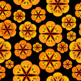 Orange flowers background seamless pattern Royalty Free Stock Image