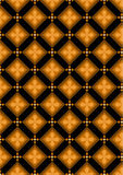 Orange flowers in brown rhombuses Royalty Free Stock Image