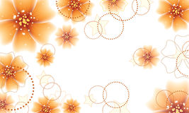 Orange flowers design Royalty Free Stock Images