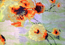 The orange flowers drawn by a watercolor Royalty Free Stock Photos