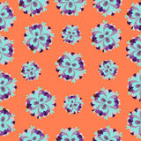 Orange flowers pattern Royalty Free Stock Photos