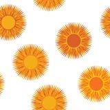 Orange flowers seamless Stock Photo