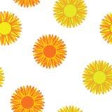 Orange flowers seamless. Vector background stock illustration