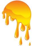 Orange flowing drops Stock Photo