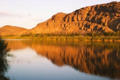 Orange Fluss bei Abiqua Stockbilder