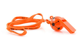 Orange flute in shape of soccer ball Stock Photo