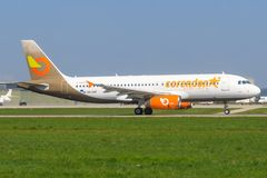 Orange2fly A 320 royalty free stock images