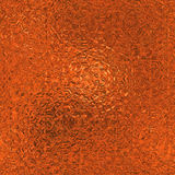 Orange Foil Seamless and Tileable Background Texture. Stock Images