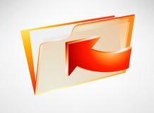 Orange folder Stock Images