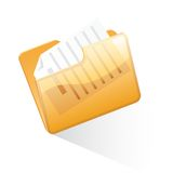 Orange folder Royalty Free Stock Photography