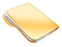 Orange Folder icon Stock Photos