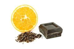 Orange foncée de whith de chocolat photos stock