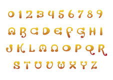 Orange font set Royalty Free Stock Photo
