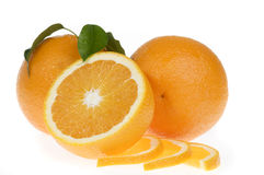 Orange food isolated over white Royalty Free Stock Image