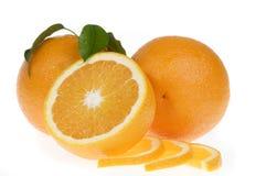 Orange food isolated over white royalty free stock image