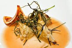Orange food. Menu with orange Royalty Free Stock Photo