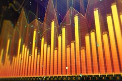 Orange forex background. Orange glowing forex background. Investment, stock, finance, analysis and profit. 3D Rendering Stock Image