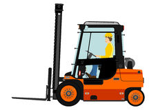 Orange forklift Royalty Free Stock Photography