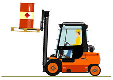 Orange forklift Stock Photo