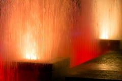 Orange Fountains Royalty Free Stock Image