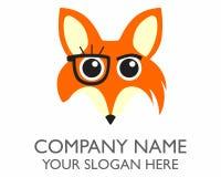 Orange fox logo Stock Image