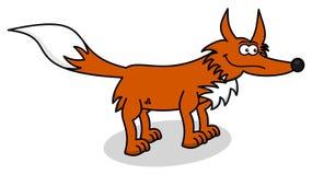 Orange fox profile Royalty Free Stock Image
