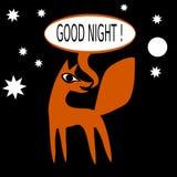 Orange fox say good night Stock Photo