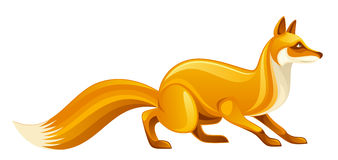 Orange fox Stock Image
