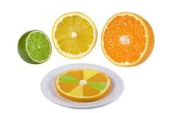 Orange Früchte, Kalk, Zitrone Lizenzfreie Stockfotos