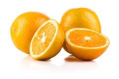 Orange Früchte lokalisiert auf Weiß Lizenzfreies Stockbild
