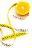 Orange fraîche avec la mesure Photo stock