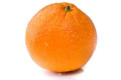 Orange fraîche d'isolement sur le blanc images libres de droits