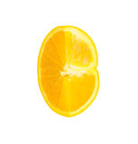 Orange fraîche d'isolement sur le fond blanc Photo stock