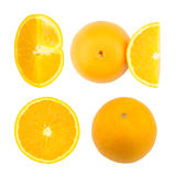 Orange fraîche d'isolement sur le fond blanc Image stock