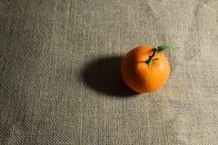 Orange fraîche dans la lumière chaude Images stock