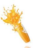 Orange fraîche de jus Photos stock