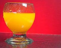 orange fraîche de jus photographie stock libre de droits