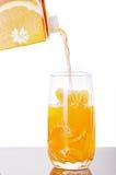 orange fraîche de jus Images stock