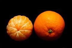 Orange fraîche et enlevée Images stock