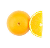 Orange fraîche sur le fond blanc Images stock