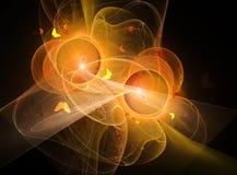 Orange fractal Stock Images